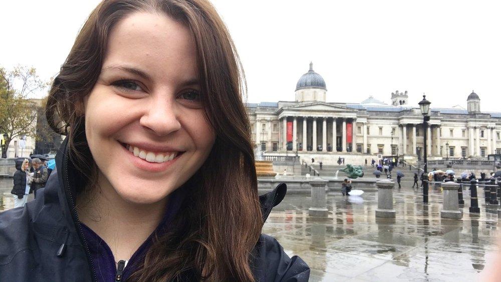 Me outside the National Gallery, London UK. November 2017