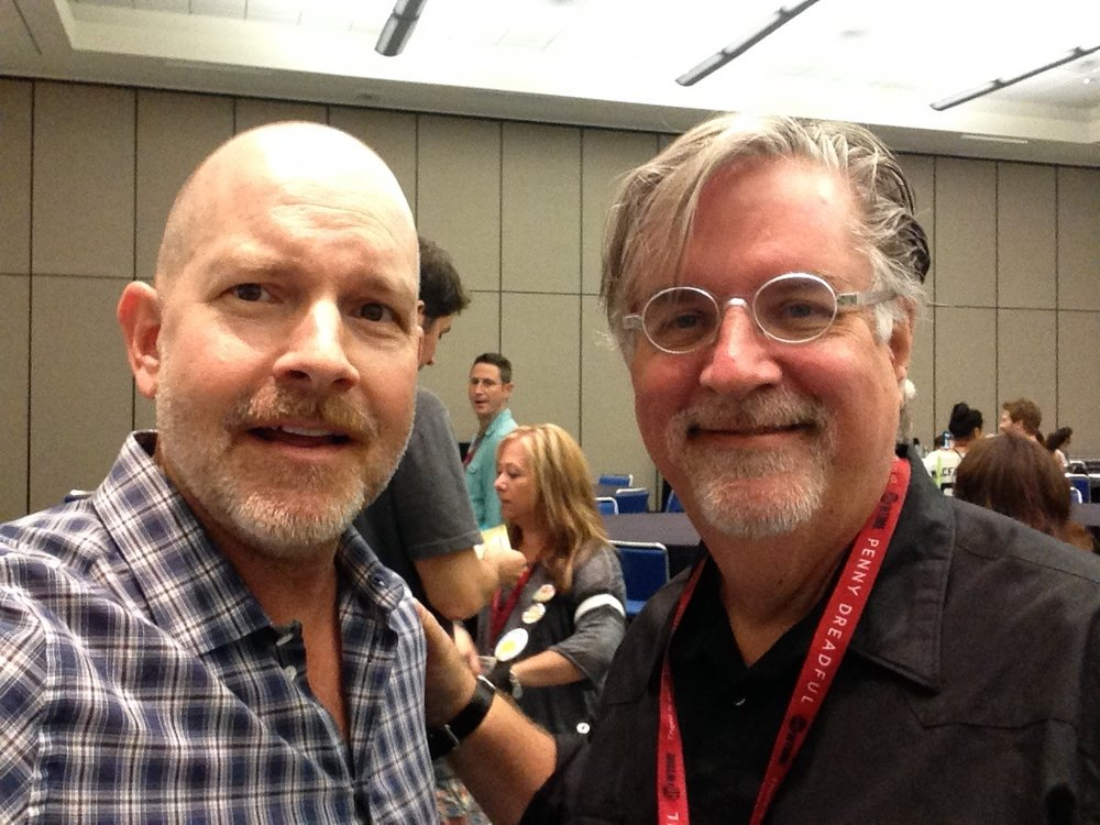 Mike Henry and Matt Groening