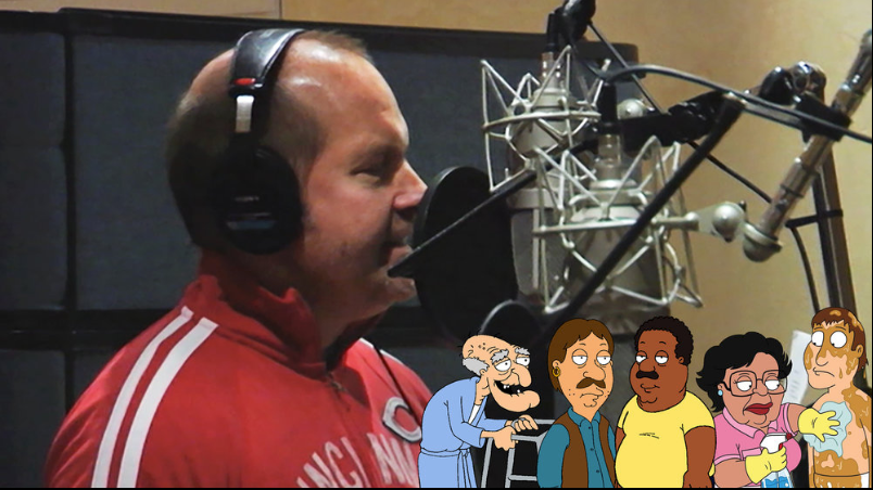 Mike Henry in the  Family Guy  recording studio.