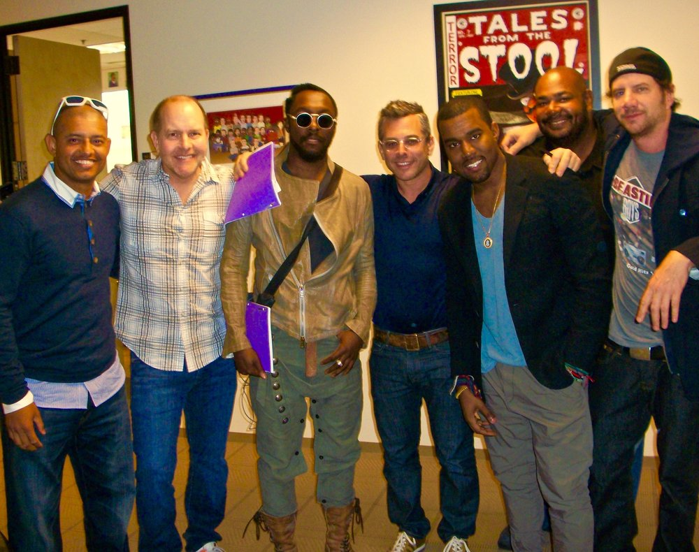 Mike Henry with special guests at  T  he Cleveland Show  studio.