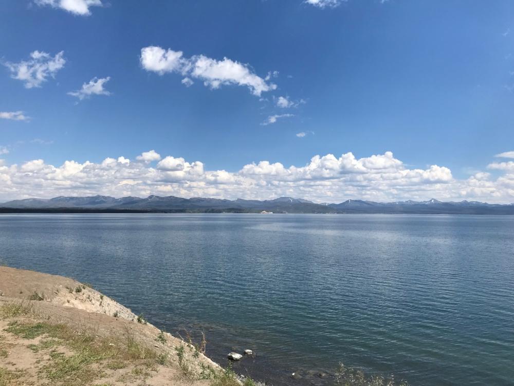 Yellowstone Lake view from Lake Village