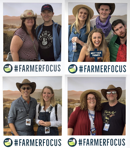 Farm Aid attendees snapped their photos in our #farmerfocus photo-booth frame, with a beautiful backdrop of the Shenandoah Valley.