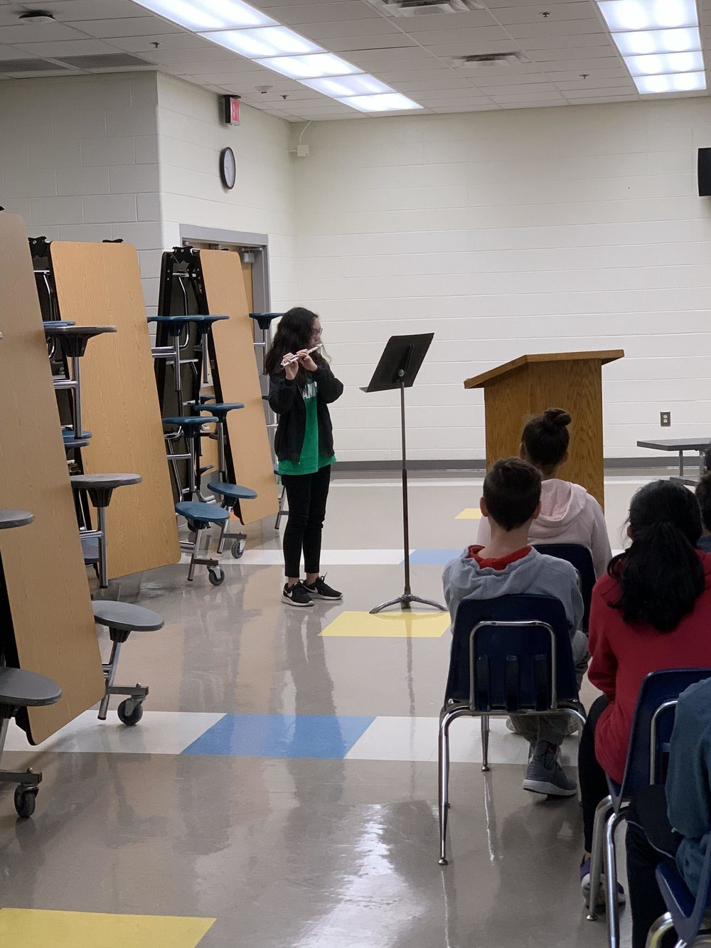 Claire (7th Grade, SB Flute) performed a solo for the Citizenship Breakfast!