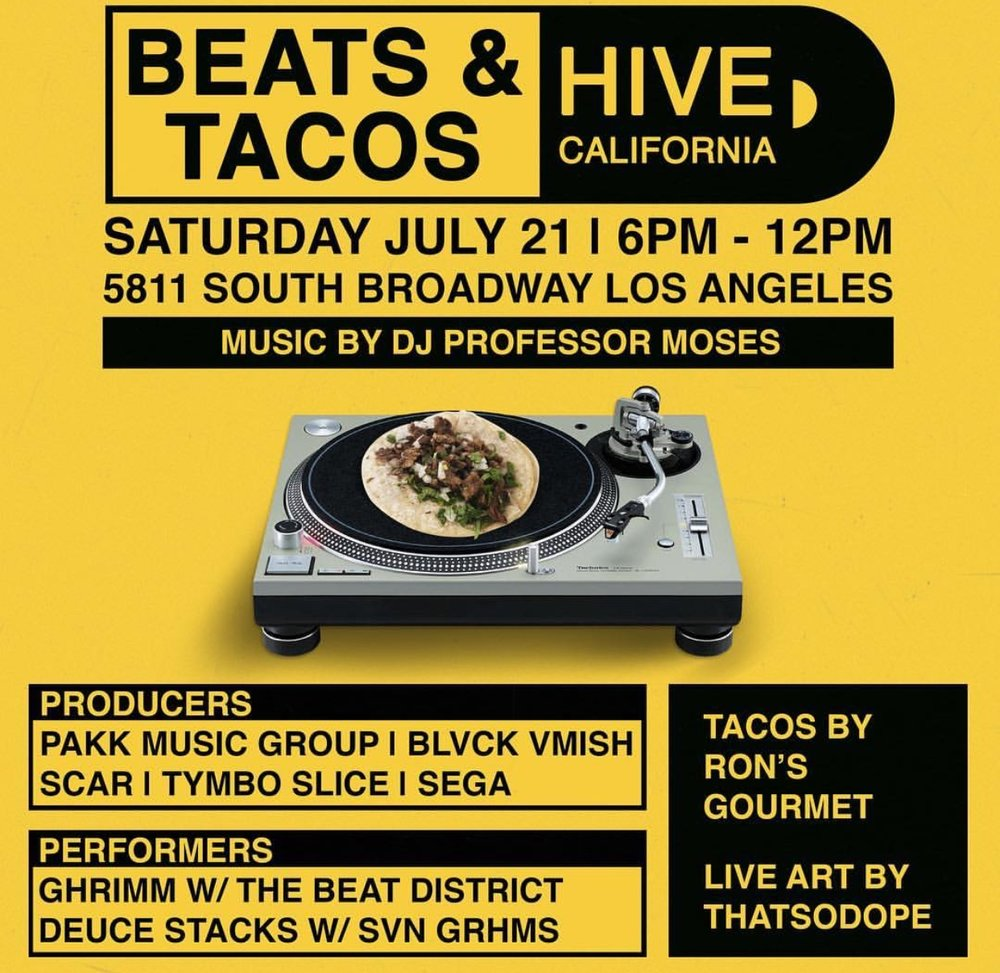 Beats & Tacos Flyer