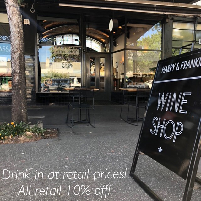 Only 9 more days to pop in and treat yourself to some great discounted prices on ALL wine 🍾🥂🍷 #harryandfrankie #winebar #discount