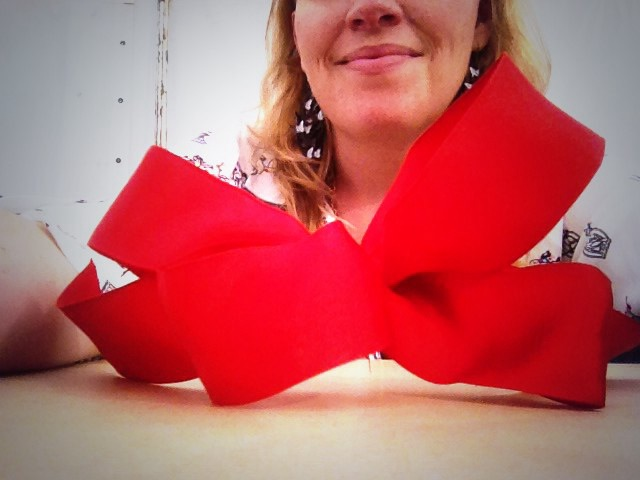 Christmas bows with Jane Means at The Handmade Fair
