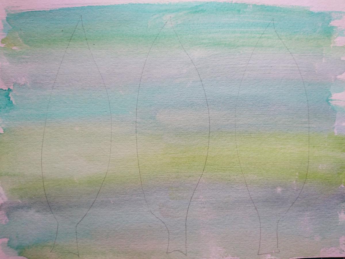 Step 2 - Draw leaf shapes