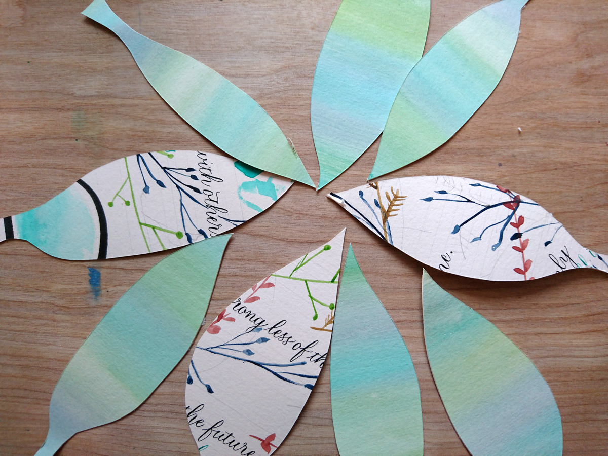 Step 3 - Cut out leaf shapes