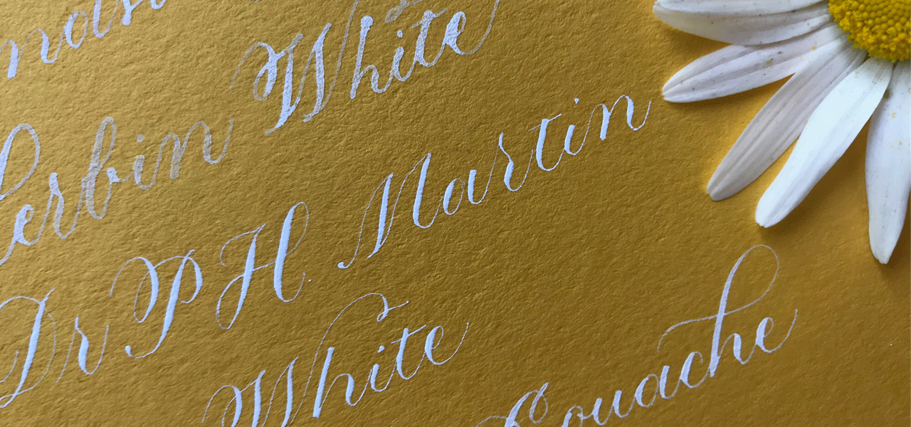 photo of the various white calligraphy inks