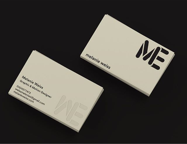 Business cards // MeWe (information made up for an assignment)