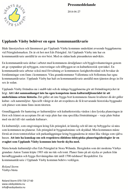 2014-06-27 Pressmeddelande kommunantikvarie i Upplands Vasby kopiera.png