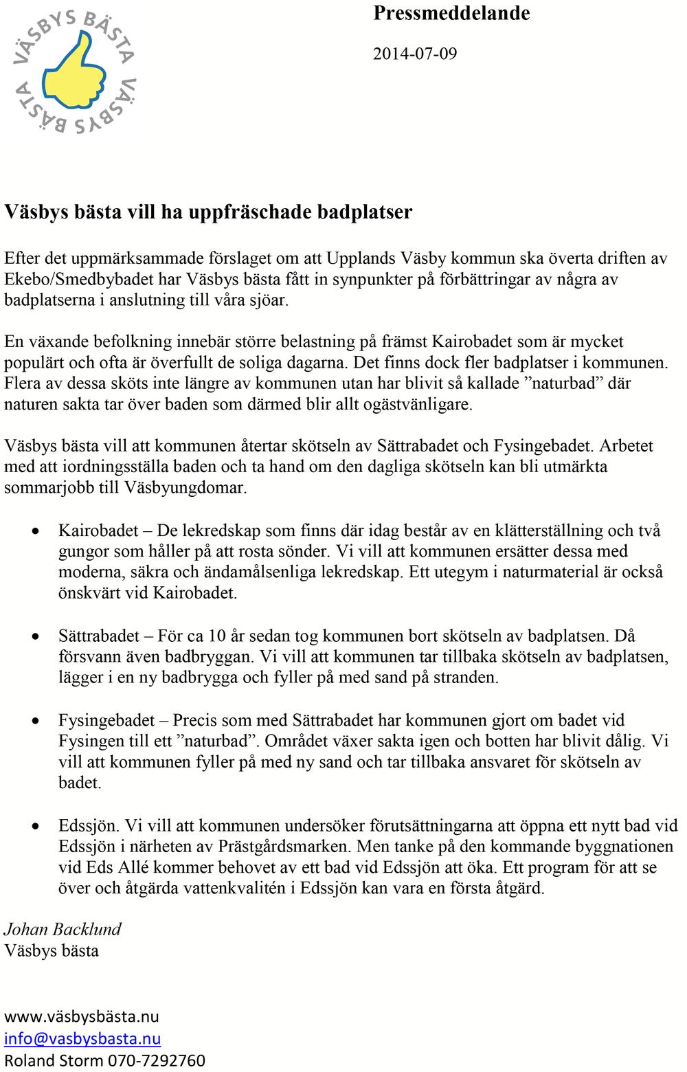 2014-07-09 Pressmeddelande Väsbys bästa vill ha uppfraschade badplatser kopiera.png