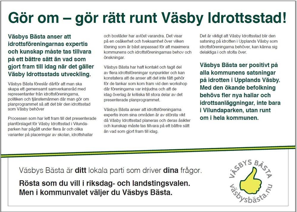 2018-06-13 Gör om - gör rätt rörande Väsby Idrottsstad.jpg