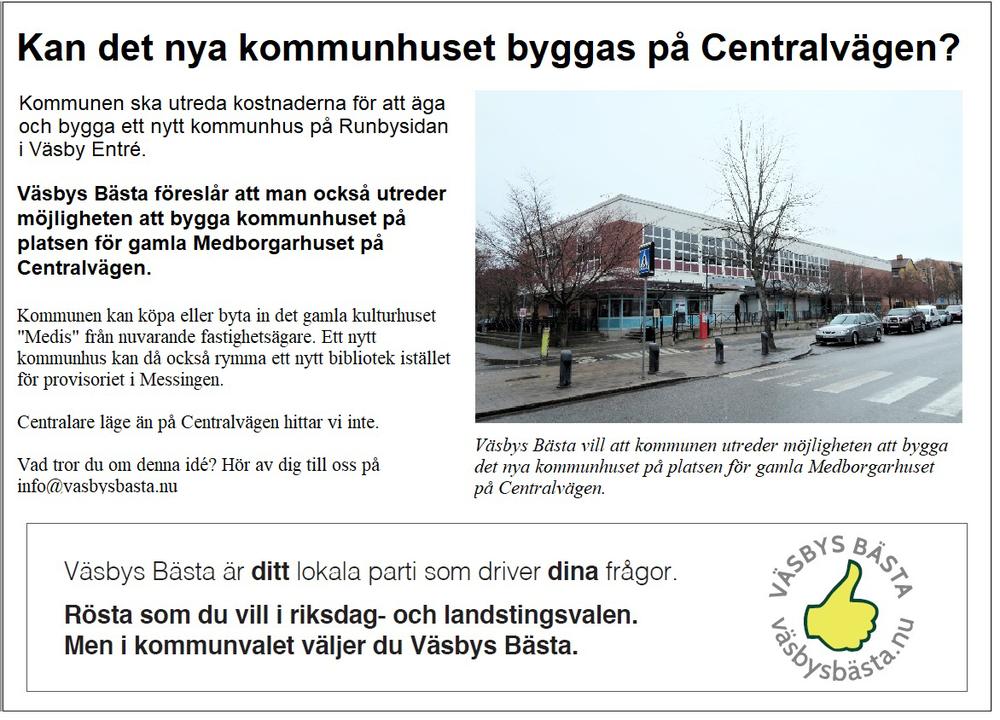 Annons Kan det nya kommunhuset byggas på Centralvägen.png