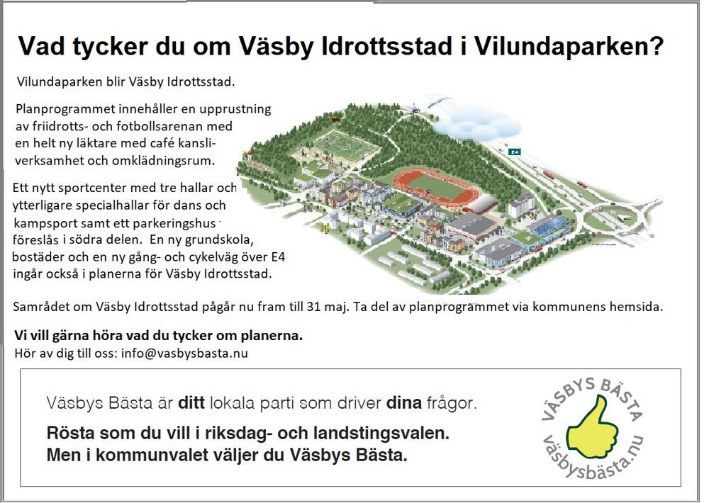 2018-05-07 Annons 1-2 sida 2018-05-07 Vad tycker du om Väsby Idrottsstad.png