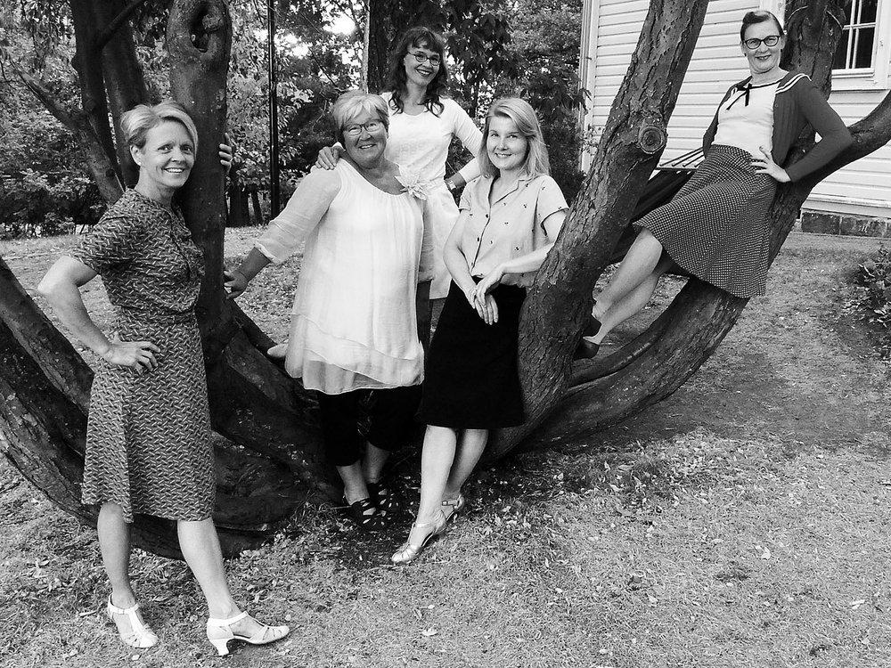 From left: Tiina Pasuri, Maija Malmström, Milla Leisso, Tiina Vaarakallio and Karita Ala-Savikota.