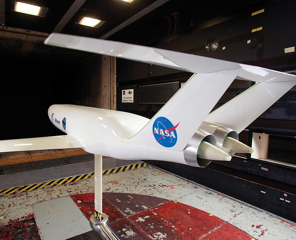 Photographic evidence  A model of the Double Bubble aced its first wind-tunnel tests at NASA's Langley Research Center last spring. (NASA)