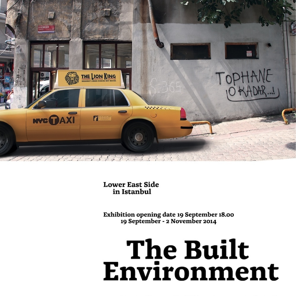 The Built Environment - Lower East Side in Istanbul    (2014)   Mixer is delighted to present The Built Environment, Lower East Side in Istanbul, the first show of the new season. This group-exhibition features nine international artists, none of whom have previously shown in Istanbul. These artists work in photo-based practices, painting, collage, printed matter, sculpture, video, and some are producing site-specific works, directly engaging with the built environment of Istanbul. The artworks in The Built Environment, Lower East Side in Istanbul will be displayed in Mixer's exhibition space in Tophane between 19 September – 02 November, combine references to constructed space with a focus on urban topography, specifically a sense of how the order and structure of our environment can produce a sense of disorientation, confrontation, or sometimes anxiety.