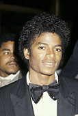Michael Jackson at an awards show in 1980