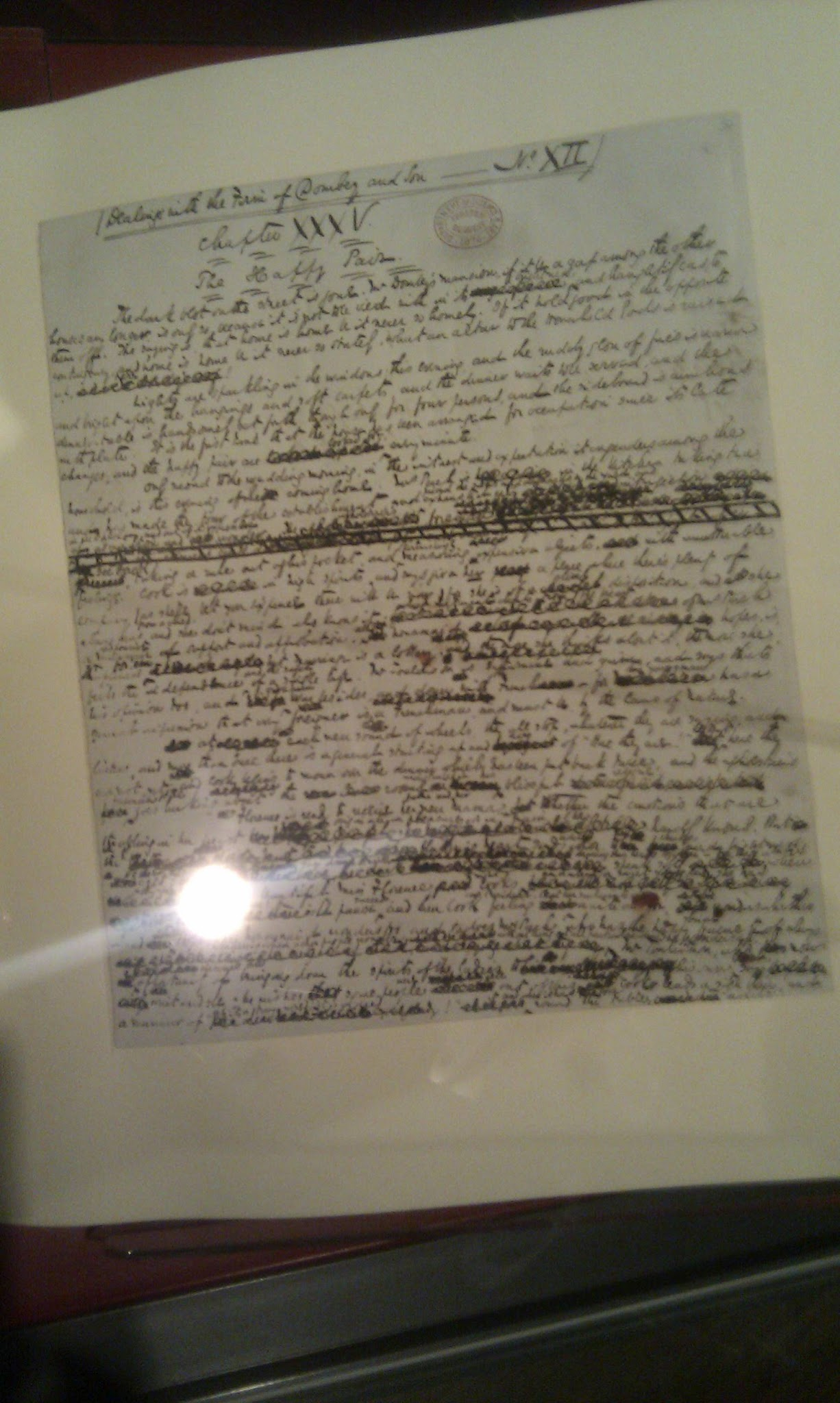 First draft of Dombey and Son by Charles Dickens