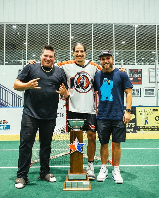 "Tag your lax squad! 👇🏽 ——————————————————————Winning Championships, life long friendships, my big brother. ""Married to the game, the grind is my best man""(@elicitvibes) Happy #PlayLaxDay • Be grateful for the game that is truly medicine. —————————————————————— Tune in tonight as the Thr3e are live on Facebook at 8:00 pm from @bnbroadhouse crushing a couple Thrilla Burgers! Talking Can Am Championship and more. 📷: @nicolarinaldo"