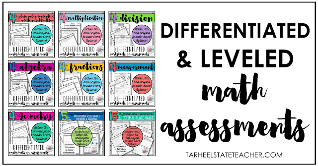 Differentiated Math Assessments