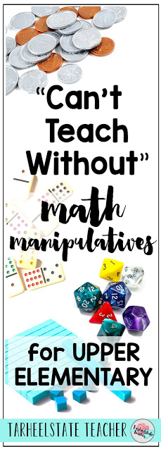 What math manipulatives could you be incorporating more of into your 4th grade or 5th grade classroom? I've got 6 math tools and manipulative ideas that I love to use when teaching math with my upper elementary students. Manipulatives are awesome for math activities, math lessons, and hands on math games and for increasing engagement in your math lessons!