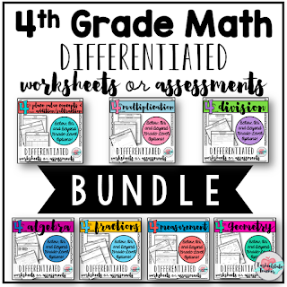 4th Grade Differentiated Math Assessments