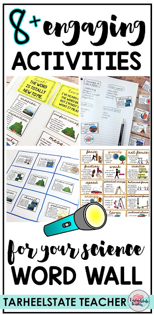 Looking for ideas and activities to make your science word wall more interactive and engaging? Hlep your students master their content area vocabulary with these fun word wall ideas, games, and activities. Use your word wall for introducing your science unit and reviewing key science vocabulary! Your upper elementary, 3rd, 4th, 5th, and middle school students will LOVE these ideas and get so excited with science as you put these science vocabulary activities into your routine!