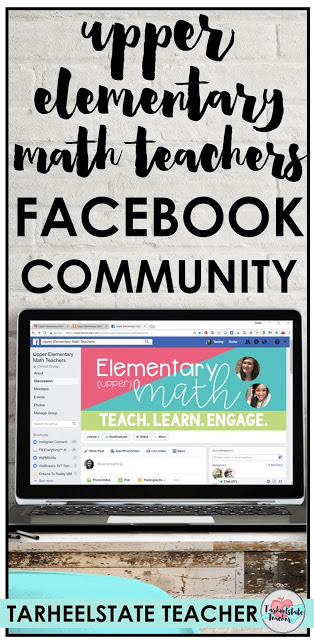 The Upper Elementary Math Teachers  Facebook group is the perfect group for 3rd grade, 4th grade, and 5th grade teachers who want to
