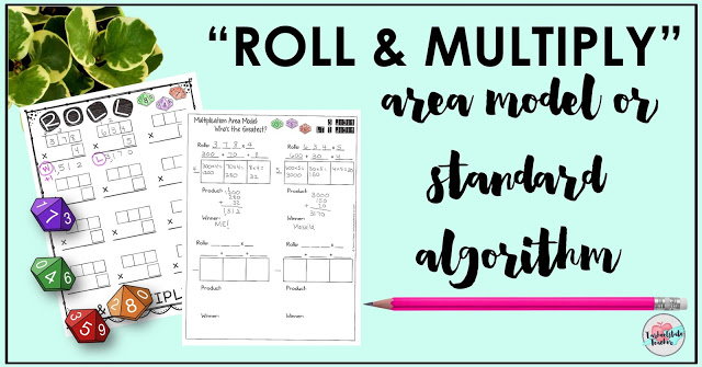 Roll and Multiply Free Dice Game for Multiplying Whole Numbers ...