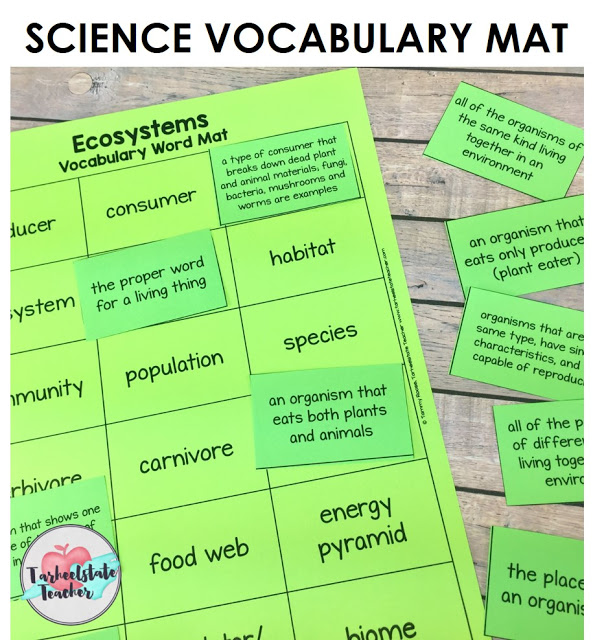Looking for ideas that activate prior knowledge, help you integrate VOCABULARY ACTIVITIES into your science and content-area units, and assess your students before getting into your lessons? I've got three fun, engaging science vocabulary activities that are perfect for 3rd, 4th, 5th, and middle school students! Ecosystems Science Vocabulary mats