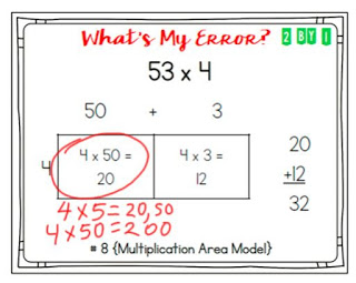 Are your 4th or 5th grade students learning the area model for multiplication and continuing to make common errors? Mine were having some trouble, until I started asking them to