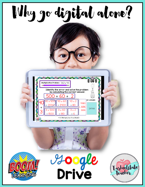 Why go digital alone? Learn about Boom Learning, Google Classroom, and how to go more paperless in your classroom with digital interactive resources!