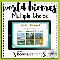 Go digital with Boom Learning digital interactive World Biomes Multiple choice review game!