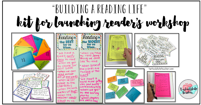 Launching the Readers Workshop Minilesson Anchor Charts and Journal Prompts
