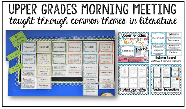 Morning Meeting Made Easy with Themes in Literature