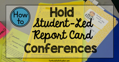 Tips for Student Led Report Card Conferences {goal setting with parents, report cards}