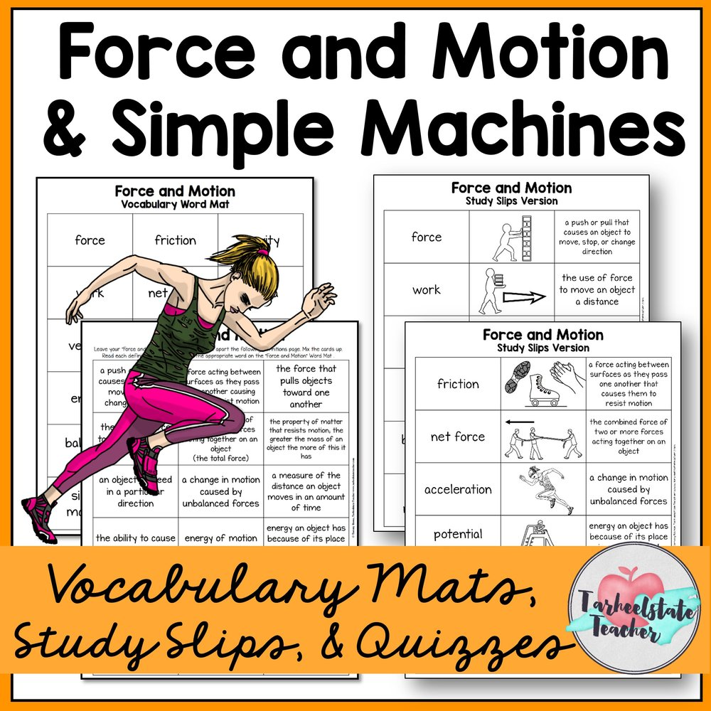 Force and Motion and Simple Machines Vocabulary Mats.JPG
