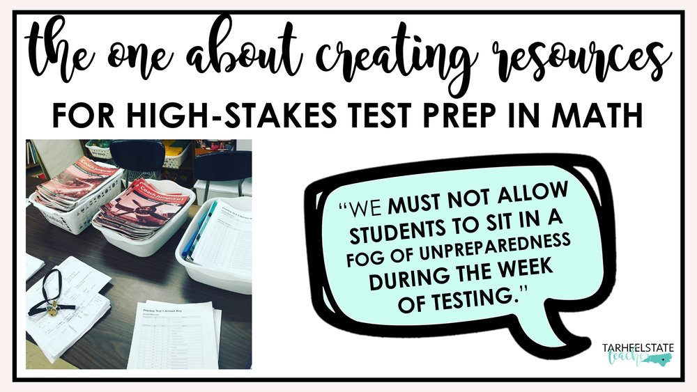 Multi-Step Word Problems on Standardized Tests — Tarheelstate Teacher
