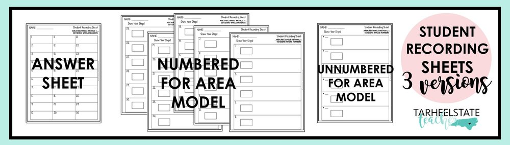 area model task card recording sheets.jpg