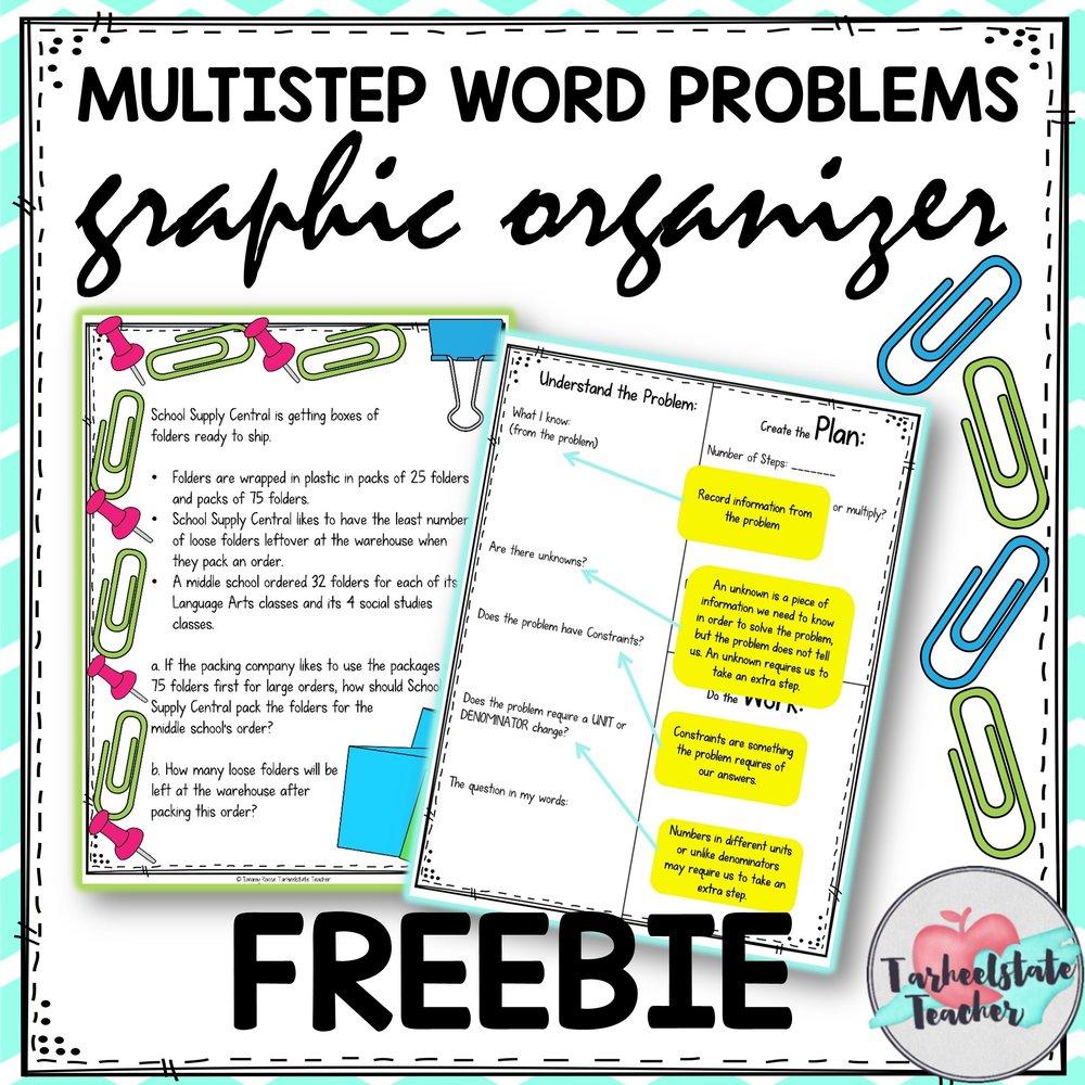 MULTI STEP WORD PROBLEMS GRAPHIC ORGANIZER FREE.jpg