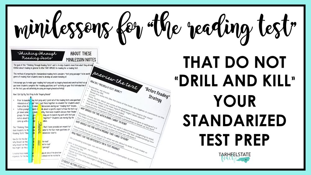 Reading Minilessons for Test Prep