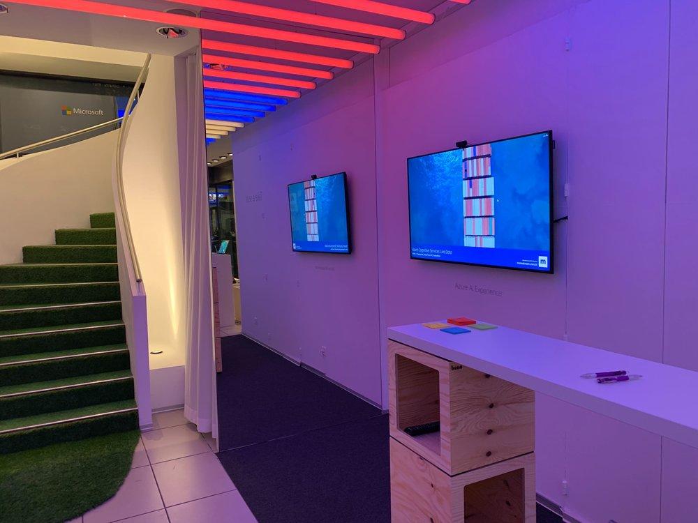 Die Monostream Glotzi Installation im Microsoft Pop-up house in Zürich