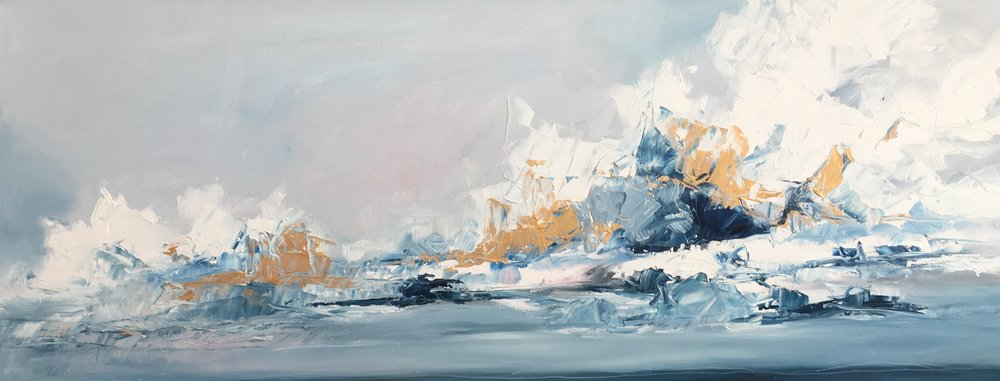Oil on Canvas  40 x 100 cm