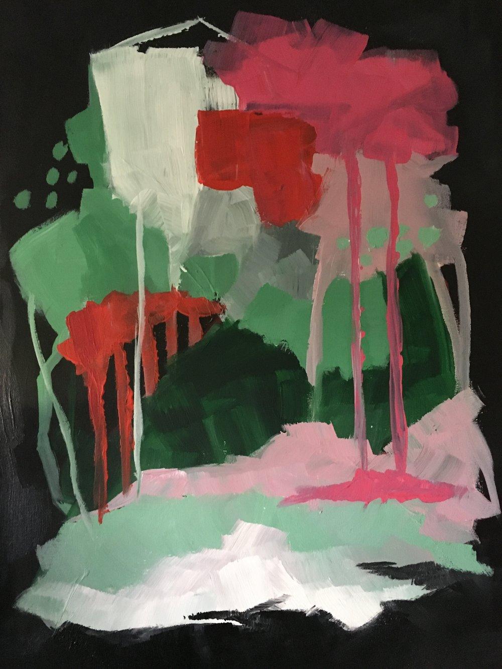 Acrylic on Canvas  30 x 50 cm