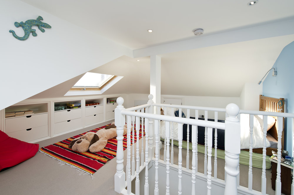 Bedroom in loft conversion, Chiswick, London, W4