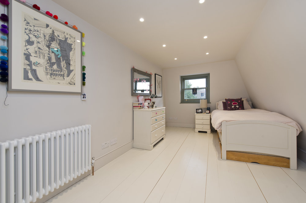 Additional bedroom in the Loft, Shepherd's Bush, The Kitchen and Loft Company.