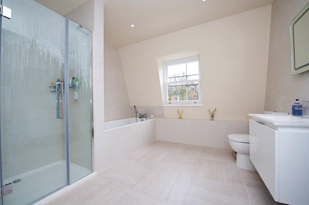 Bespoke Bathroom, Loft conversion, Hammersmith, The Kitchen and Loft Company.