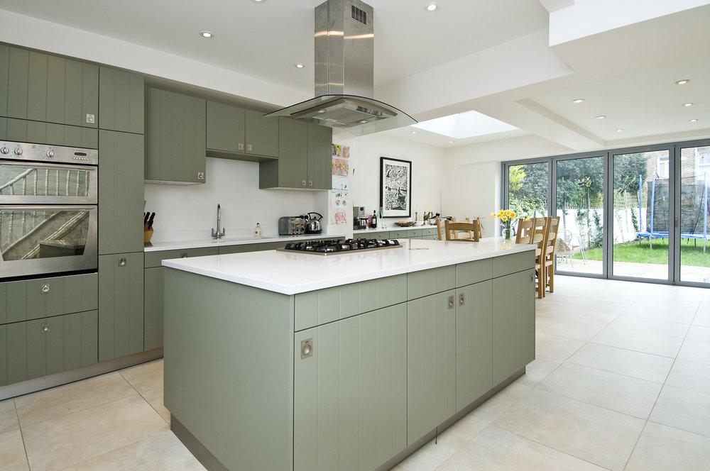 Basement Kitchen Extension, London W12, The Kitchen and Loft Company.